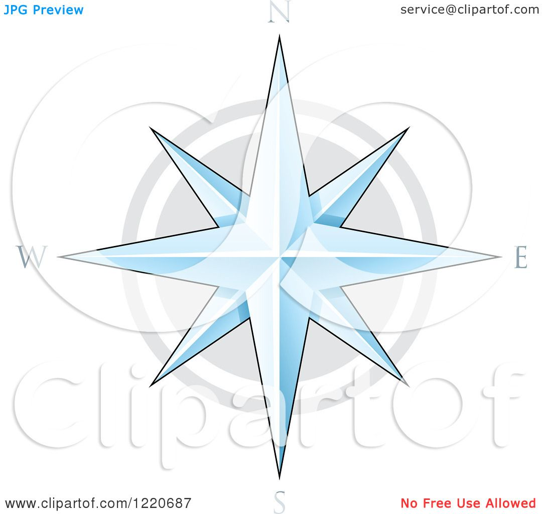 Clipart of a Compass Star - Royalty Free Vector Illustration by cidepix #1220687