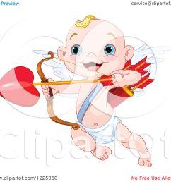 clipart of a cute baby cupid aiming love s arrow royalty free vector illustration by pushkin [ 1080 x 1024 Pixel ]