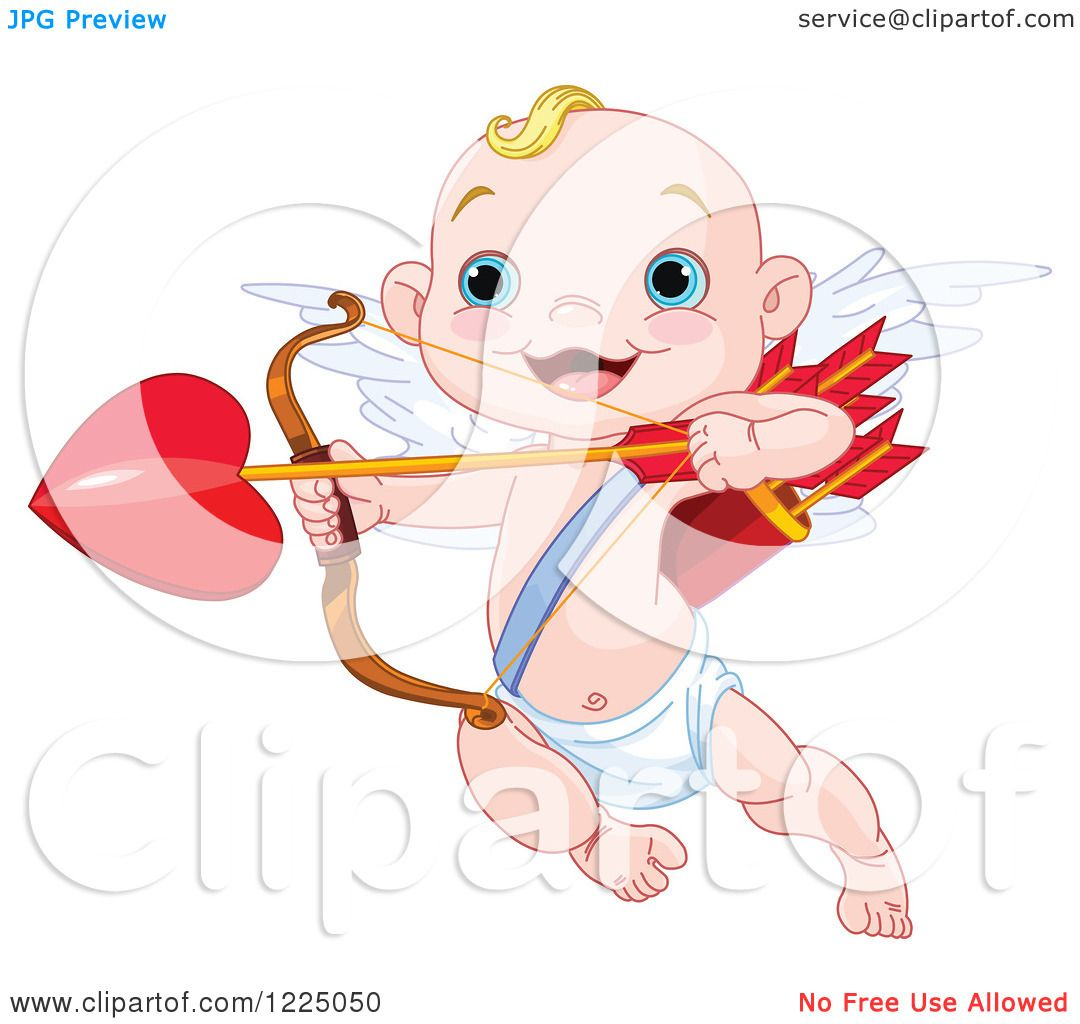 hight resolution of clipart of a cute baby cupid aiming love s arrow royalty free vector illustration by pushkin