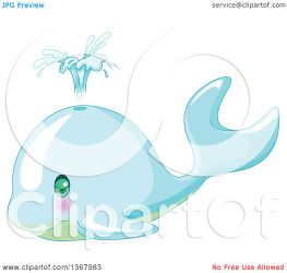 whale baby cute spouting illustration clipart vector royalty pushkin