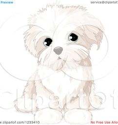 clipart of a cute bichon frise or maltese puppy dog sitting royalty free vector illustration [ 1080 x 1024 Pixel ]