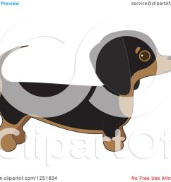 clipart of a cute dachshund dog in profile royalty free vector illustration by maria bell [ 1080 x 1024 Pixel ]