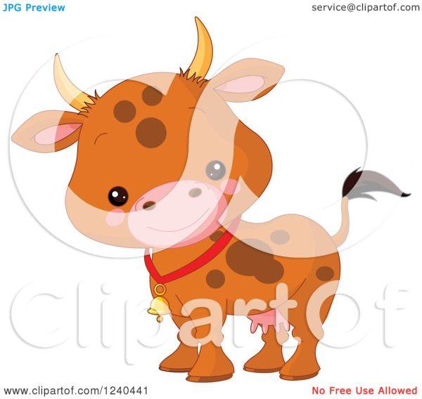 Clipart Of Cute Farm Animal - Royalty Free Vector Illustration Pushkin #1240441