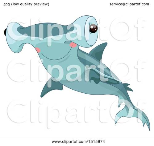 small resolution of clipart of a cute hammerhead shark royalty free vector illustration by pushkin