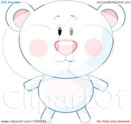 polar bear cute clipart illustration royalty vector pushkin clip