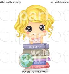 clipart of a cute white girl on top of geography books royalty free vector illustration [ 1080 x 1024 Pixel ]