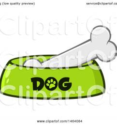 clipart of a dog bone in a bowl royalty free vector illustration by hit toon [ 1080 x 1024 Pixel ]