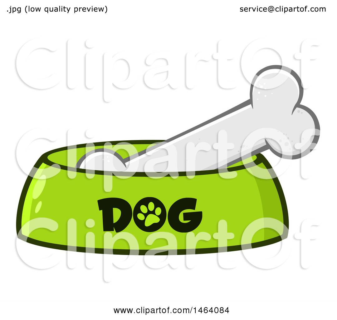 hight resolution of clipart of a dog bone in a bowl royalty free vector illustration by hit toon