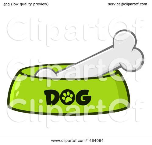 small resolution of clipart of a dog bone in a bowl royalty free vector illustration by hit toon