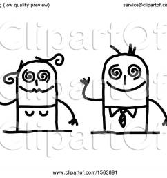 clipart of a drunk stick couple royalty free vector illustration by nl shop [ 1080 x 1024 Pixel ]