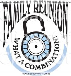 clipart of a family reunion what a combination lock design royalty free vector illustration by [ 1080 x 1024 Pixel ]