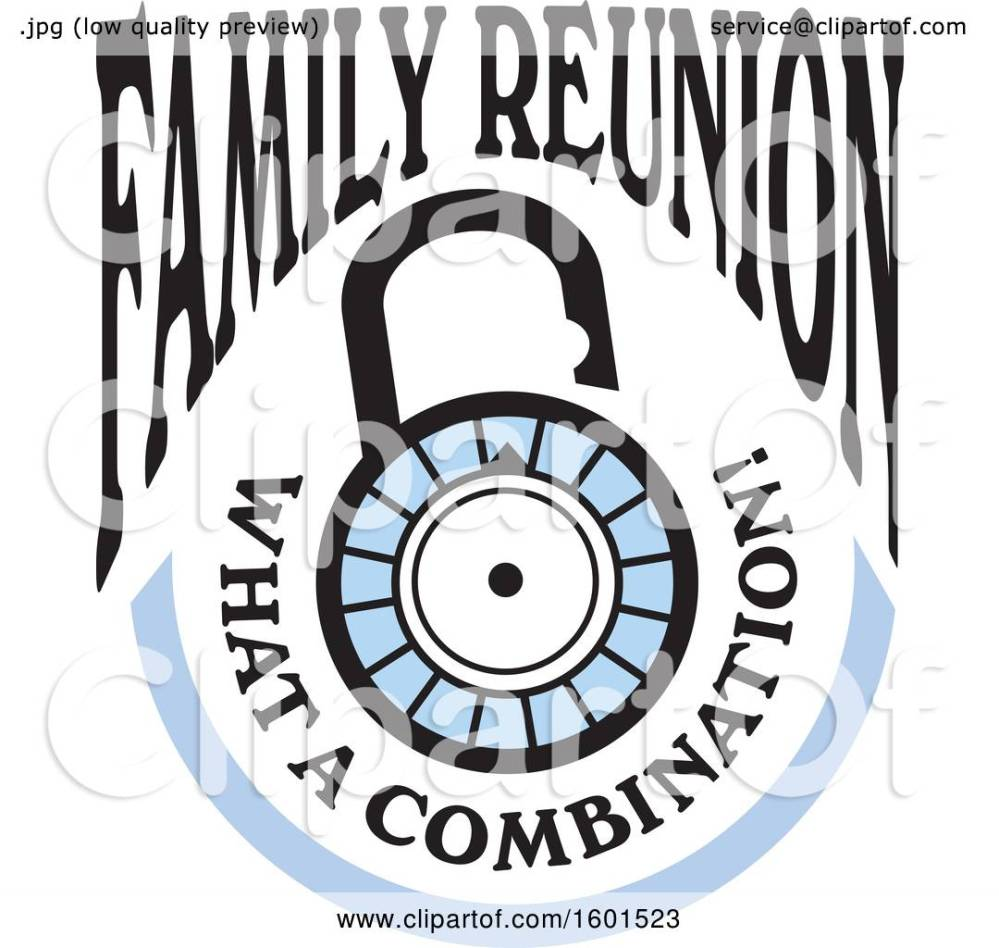 medium resolution of clipart of a family reunion what a combination lock design royalty free vector illustration by