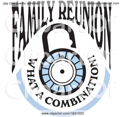 small resolution of clipart of a family reunion what a combination lock design royalty free vector illustration by