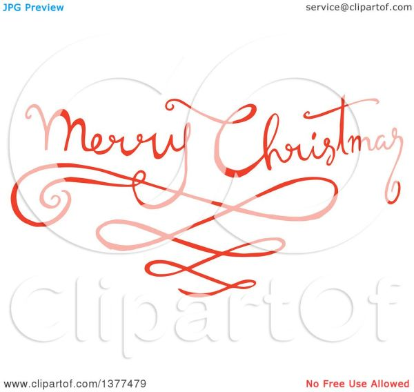 clipart of fancy merry christmas