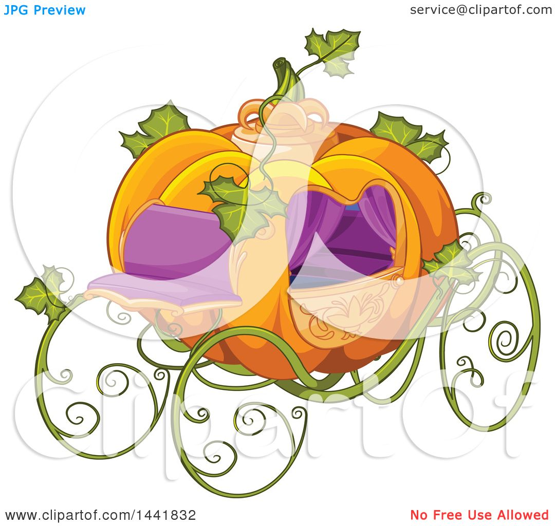 hight resolution of clipart of a fantasy pumpkin cinderella carriage royalty free vector illustration by pushkin