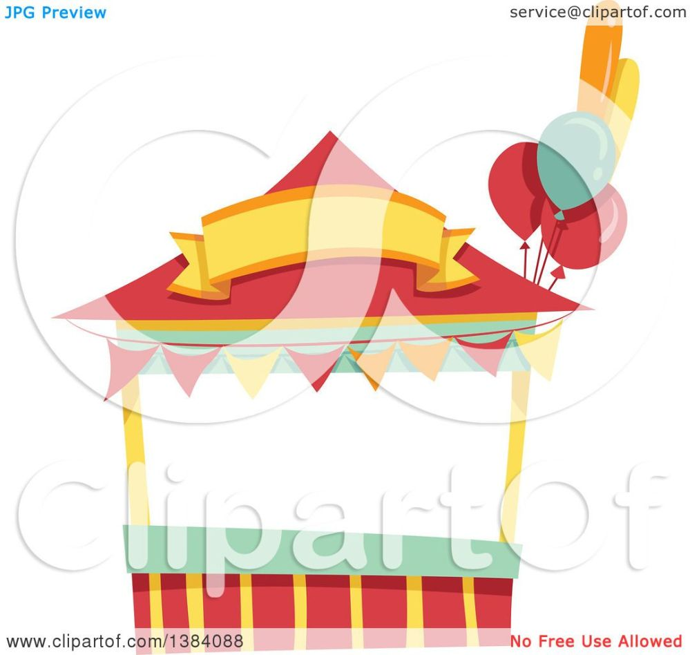 medium resolution of clipart of a festival carnival booth stand royalty free vector illustration by bnp design studio