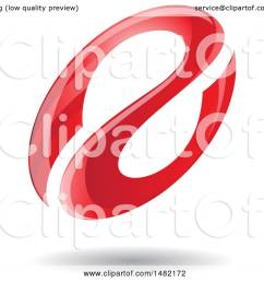 clipart of a floating red abstract glossy oval letter a design and shadow royalty free vector illustration by cidepix [ 1080 x 1024 Pixel ]