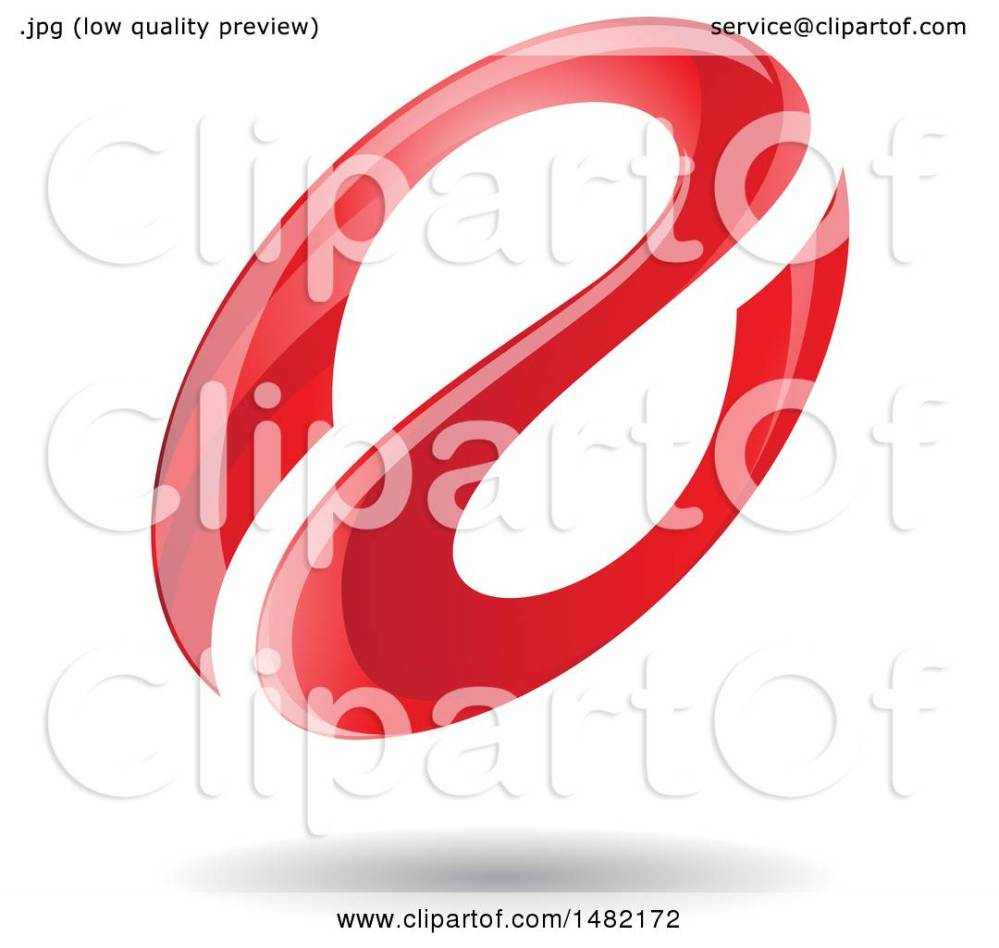 medium resolution of clipart of a floating red abstract glossy oval letter a design and shadow royalty free vector illustration by cidepix