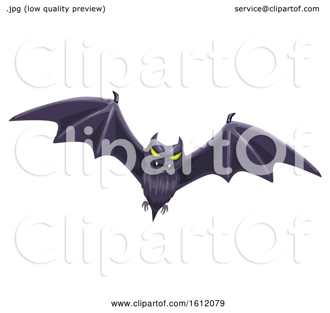 hight resolution of clipart of a flying bat royalty free vector illustration by vector tradition sm