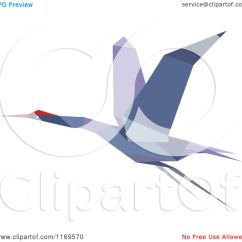 Simple Origami Flying Crane Diagram Lewis Dot For So2 Clipart Of A Purple Heron Stork Or