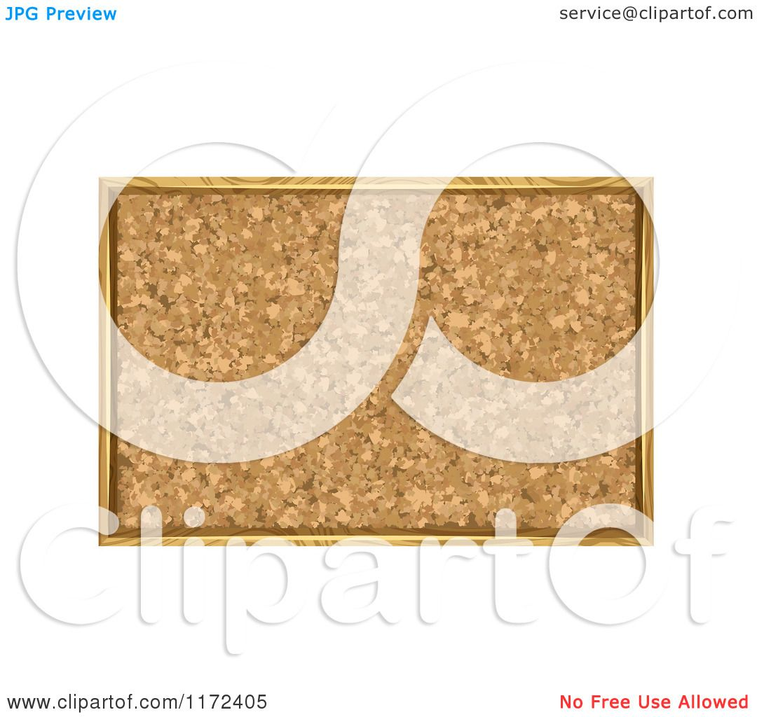 hight resolution of clipart of a framed cork board bulletin royalty free vector illustration by vectorace