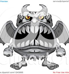 clipart of a gargoyle monster with big teeth royalty free vector illustration by cory thoman [ 1080 x 1024 Pixel ]