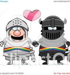 clipart of a gay knight couple holding hands under a heart 2 royalty free vector illustration by cory thoman [ 1080 x 1024 Pixel ]