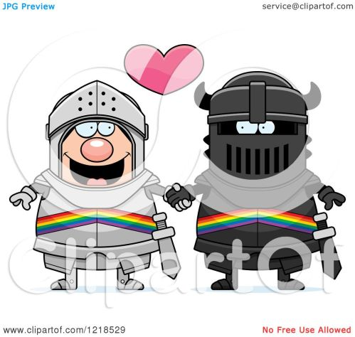 small resolution of clipart of a gay knight couple holding hands under a heart 2 royalty free vector illustration by cory thoman