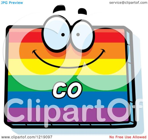 small resolution of clipart of a gay rainbow state of colorado character royalty free vector illustration by cory thoman