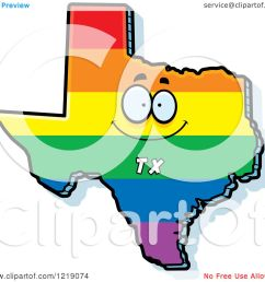 clipart of a gay rainbow state of texas character royalty free vector illustration by cory thoman [ 1080 x 1024 Pixel ]