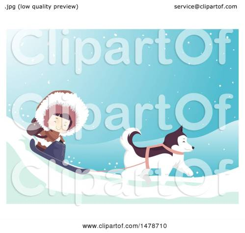 small resolution of clipart of a girl eskimo and husky dog sledding royalty free vector illustration by bnp