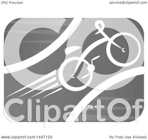 small resolution of clipart of a grayscale bicycle icon royalty free vector illustration by vector tradition sm