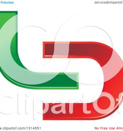 clipart of a green and red abstract letter l d design royalty free vector illustration by [ 1080 x 1024 Pixel ]