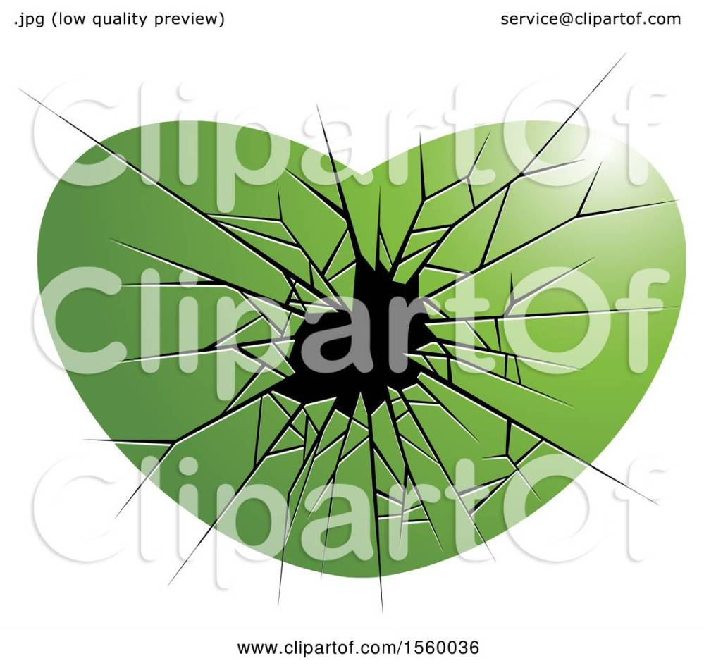 medium resolution of clipart of a green broken glass heart royalty free vector illustration by lal perera
