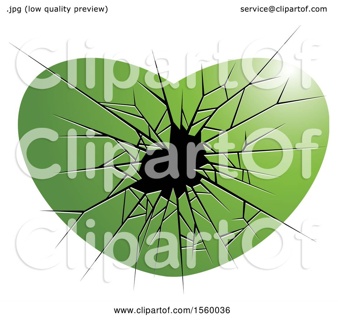 hight resolution of clipart of a green broken glass heart royalty free vector illustration by lal perera