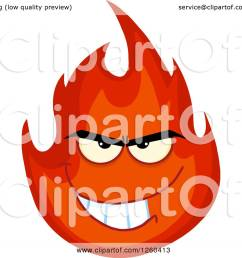 clipart of a grinning evil fireball flame character royalty free vector illustration by hit toon [ 1080 x 1024 Pixel ]