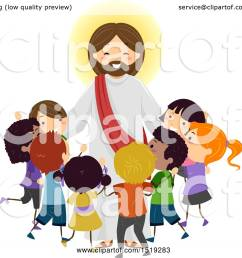 clipart of a group of children embracing jesus christ royalty free vector illustration by bnp [ 1080 x 1024 Pixel ]