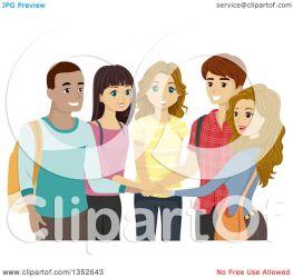 students clipart happy circle hands illustration royalty vector bnp studio