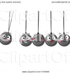 clipart of a group of happy newtons cradle balls swinging royalty free vector illustration by [ 1080 x 1024 Pixel ]