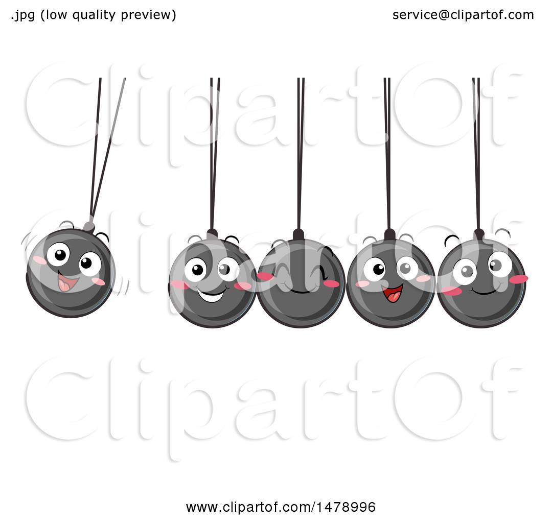 hight resolution of clipart of a group of happy newtons cradle balls swinging royalty free vector illustration by