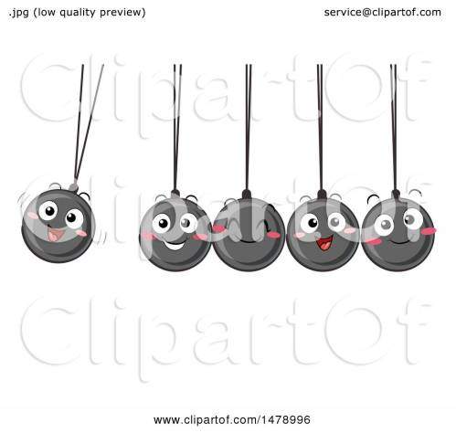 small resolution of clipart of a group of happy newtons cradle balls swinging royalty free vector illustration by