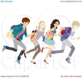 students clipart running illustration student vector royalty studio bnp clip clipground portfolio
