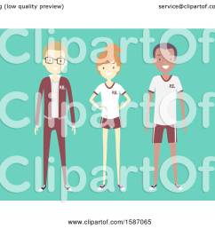clipart of a group of teens in pe uniforms royalty free vector illustration by bnp [ 1080 x 1024 Pixel ]