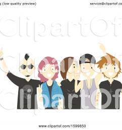 clipart of a group of teens with a rock band royalty free vector illustration by  [ 1080 x 1024 Pixel ]
