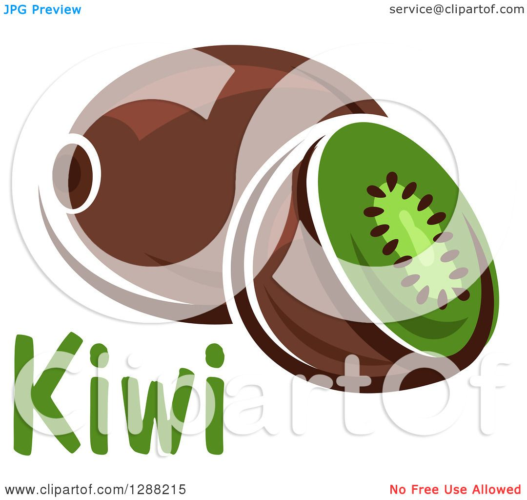 hight resolution of clipart of a halved and whole kiwi fruit with text royalty free vector illustration by vector tradition sm