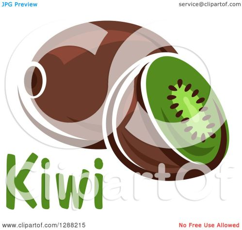 small resolution of clipart of a halved and whole kiwi fruit with text royalty free vector illustration by vector tradition sm
