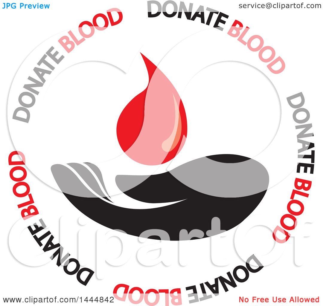 hight resolution of clipart of a hand blood donation design royalty free vector illustration by colormagic