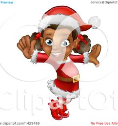 clipart of a happy black female christmas elf jumping or dancing royalty free vector illustration [ 1080 x 1024 Pixel ]
