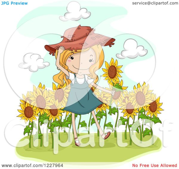 clipart of happy blond country