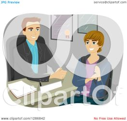 student male counselor talking guidance clipart happy illustration royalty caucasian vector bnp studio law regarding portfolio notes